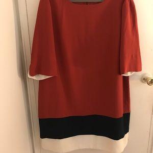 Plus size multicolor dress